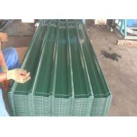 China Green / Blue Color Coated Steel Roofing Sheet Z30 - Z275g / M² Width 960mm on sale