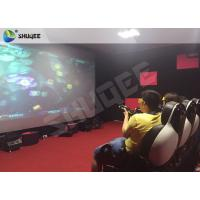 Quality Striking Amusement 7D Movie Theater With Gun Playing , Motion Chair wholesale