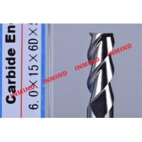 China HRC50 Aluminum End Mill Cutter / Hss End Mill Bright Surface 6mm 8mm 3 Flute on sale