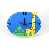 Quality Lovely Chilrens Gift Home Decor Clocks Wall Decorative , Giraffe Shape wholesale