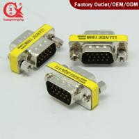 Quality 15 Pin HD SVGA VGA Male to Male Adapter Connector wholesale