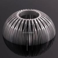 China Silver Professional Heat Sink Aluminum Profiles Round Shape Anodized Surface on sale