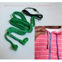 Quality Drawcord inbuilt MP3 headphone washable earphones for hoodie/garment wholesale