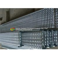 Quality Bolted Fixing Serrated Galvanized Stair Tread , Anti Slip Steel Grate Stair Treads wholesale