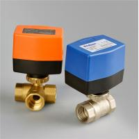 China PN20 3 Point Type Electric Ball Valve , Motorized Brass 3 Way Ball Valve 1/2'' Port Size on sale