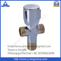 Chrome Plated Brass Angle Valve with Zinc Alloy Handle