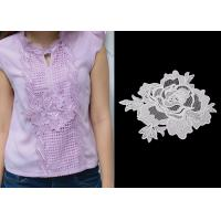 Quality Custom Water Soluble Lace / 3D Flower Lace Trim Collar Applique With OEKO - Tex wholesale