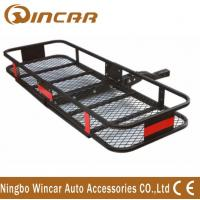 Quality Steel Material Hitch Mount Rear Bike Carrier , Folding Cargo Carrier wholesale