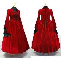 Quality Medieval Dress Wholesale XXS to XXXL Custom Made Meideval Victorian Renaissance Gothic Red Party Dress Cosplay wholesale