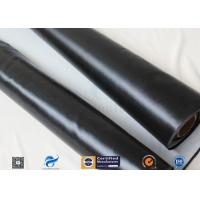 China 530g Black Silicone Coated Fiberglass Fabric For Valve Thermal Insulation Cover on sale