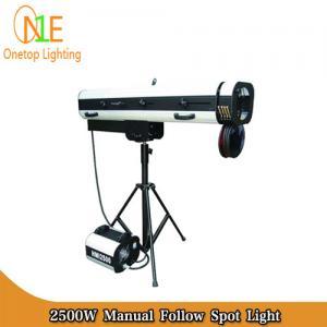 Quality HMI 2500W Manual Follow Spot Light DJ Stage Lighting Led Effect Light changeable aperture wholesale