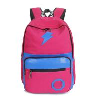 Quality teen canvas backpacks  colorful pink dark blue black wholesale