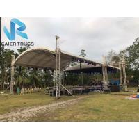 China Curved 400 * 500mm Sgaier Truss For Grass Wedding Events Stage Lighting on sale