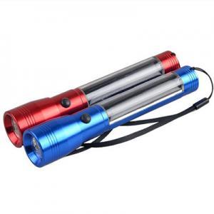 China Aluminium Rechargeable Solar Led Flashlight Torch on sale