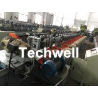 Quality Octagonal , Octagon Pipe Roll Forming Machine for Rolling Shutter Axes With Manual Decoiler / Uncoiler wholesale