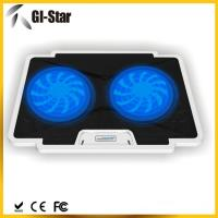 China 5 adjustable angles, 2 USB2.0 HUB, 2 fan ,Laptop coolers with different colors on sale
