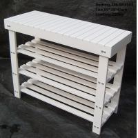 Quality Wood 2-tier Shoe Bench with OEM Orders Accepted wholesale