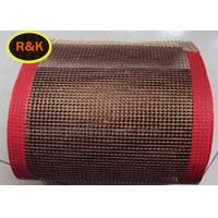 China High Strength Teflon Conveyor Belts Good Ventilation Fabric Shrinkage Drying on sale