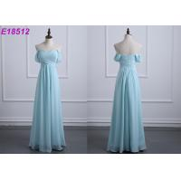 Quality Off The Shoulder Chiffon Wedding Bridesmaid Dresses Casual Custom Made Size wholesale