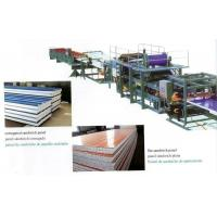 Quality Insulated EPS Sandwich Panel Production Line with Decoiler / Laminating Device wholesale