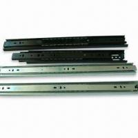 Quality Three-fold Ball Bearing Drawer Slides with 1.2 x 1.2 x 1.2mm Thickness wholesale
