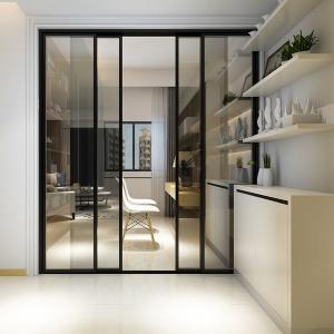 Quality Fire Proof Aluminium Frame Glass Door Powder Coating Frame Energy Saving wholesale