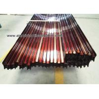 China Custom Extruded Aluminum Extrusions / Profiles For Sliding Door Wood Grain Effect on sale