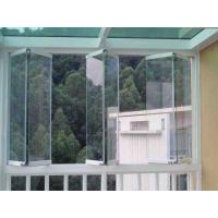 Quality 1.6mm Frameless Folding Glass Windows Energy Saving With Tempered Glass wholesale