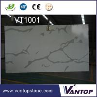 Quality 2cm Solid Surface Slab Calacatta White Quartz Stone Slab for Wall Cladding wholesale