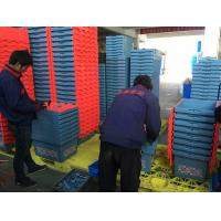 50kgs Security Storage Moving Plastic Crates With Hinged Lids