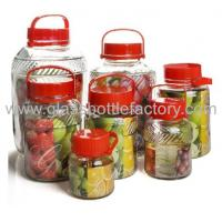 Buy cheap 2L to 15L Large Glass Food Storage Jars with Plastic Lids product