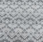 Quality Floral Line Holes Cotton Nylon Lace Fabric For Ladies Dressing  150CM Width wholesale