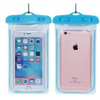 China Custom Plastic Pouches Packaging PVC Waterproof Phone Pouch Bag on sale