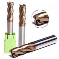 China HRC55 TiSIN Coating Tungsten Carbide End Mill Cutting Tool Square / Flat For Wood on sale