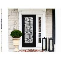 Quality Durable Wrought Iron Glass Inlaid Door , Decorations Wrought Iron Interior Doors wholesale