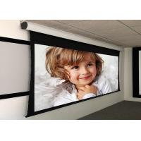 Cheap Custom Large Electric Motorized Projector Screen With Aluminum Casing , Remote Control for sale