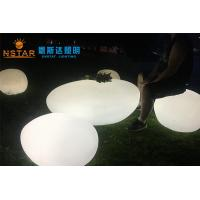 Quality PE Plastic Material Stone Garden Lights , Stone Solar Lights With RGB 16 Color Changing wholesale