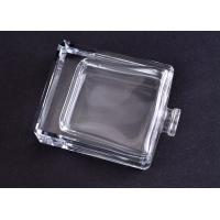 Cheap Clear Transparent Square Glass Perfume Bottles , Glass Diffuser Bottles for sale