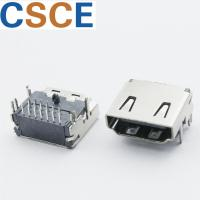 Quality Three Rows PIN HDMI Female Connector , DIP 19 Pin HDMI Connector Bronze Material Contact wholesale