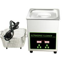 Quality 50W 40khz Stainless Steel Mini Ultrasonic Cleaner Bath 2L With Digital Timer wholesale