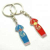 Quality Metal Custom Shaped Keychains Solid Material Any Size Die Casting Process wholesale