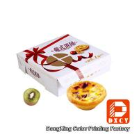 China Environmental Square Paper Food Boxes Egg Tart Window Paper Box on sale