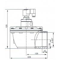 Overall Dimension of CA76T solenoid Pulse Valve: