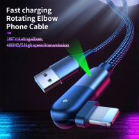 China 180 Degree Rotate Micro USB Cable Fast Charging Charger For Samsung Xiaomi on sale