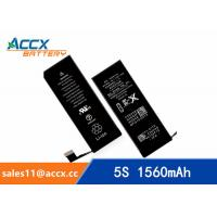 Quality Brand new high quality li-polymer replacement internal battery for IPHONE 5S/5C with 3.8V 1560mAh wholesale