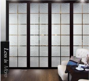 Quality Modern Interior Decorative Glass Doors / Translucent Glass Door Panels For Curtain Walls wholesale