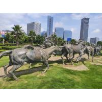 Quality Modern Bronze Horse Statue , Outdoor Bronze Sculpture Public Decoration wholesale