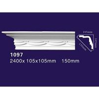 Quality Factory Price PU Cornice/ PU Carved Crown Molding 1097 wholesale