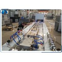 China Double Screw Plastic Profile Extrusion Line For PVC Door Frame / Cladding Pallets Profile on sale
