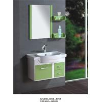 Cheap 80 X48/cm PVC bathroom cabinet/  wall cabinet /white color with mirror for bathroom for sale